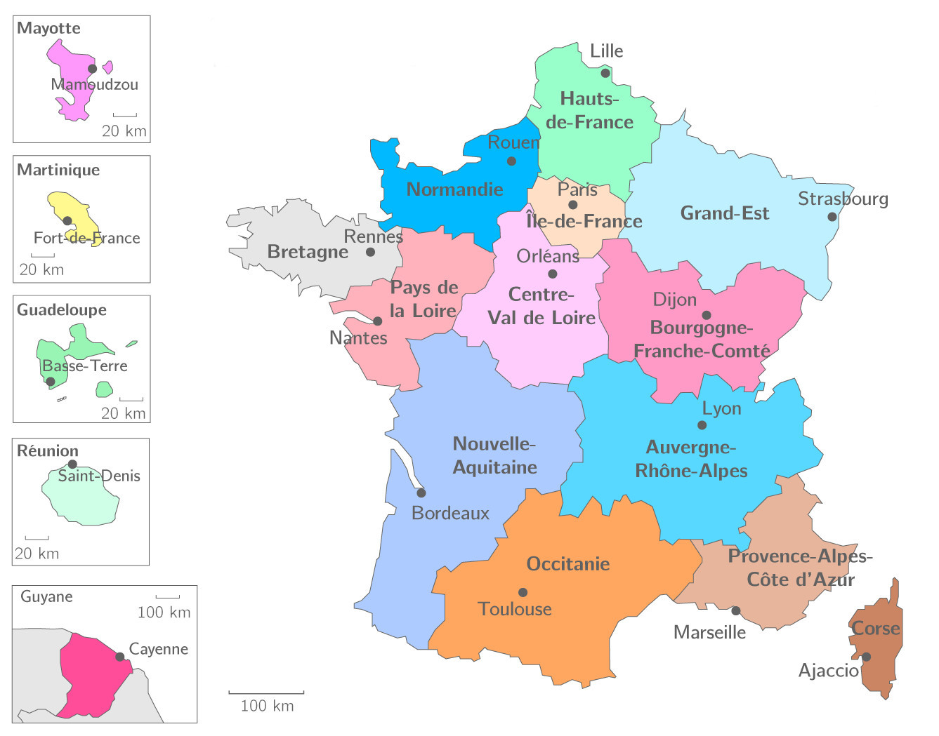 Carte De France Bourgogne Franche Comte.Liste Des Regions Francaises Informations Officielles 2019